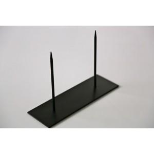 Podstawa metalowa10 x 30 cm z 2 szpikulcami 20 cm
