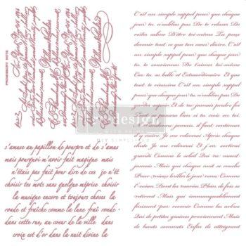 PRIMA STEMPEL AKRYLOWY MAXI 31x31 cm VINTAGE SCRIPT