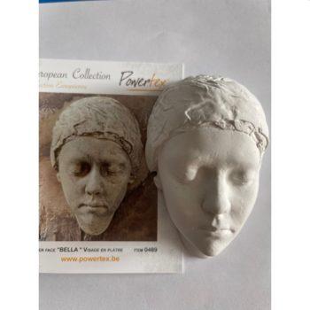 Bella - odlew gipsowy pół głowy 6,5 x 9,5 cm