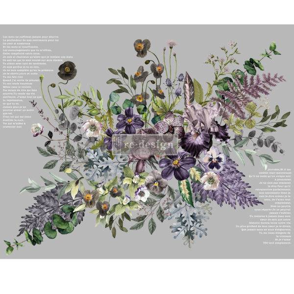 Redesign Decor Transfers® – Vigorous Violet – total sheet size 48″x35″, cut into 6 sheets